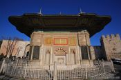 Travel photography:Guard house at one of the entries to the Topkapi palace grounds, Turkey
