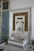 Travel photography:Water basin within the Topkapi palace, Turkey