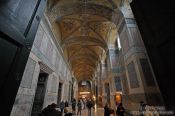 Travel photography:Main gallery within the Ayasofya (Hagia Sofia), Turkey