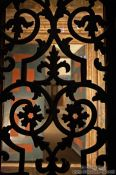 Travel photography:Wrought iron pattern inside the Ayasofya (Hagia Sofia), Turkey