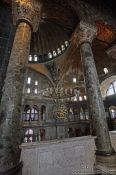 Travel photography:Columns inside the Ayasofya (Hagia Sofia), Turkey