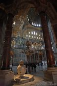 Travel photography:View of the interior of the Ayasofya (Hagia Sofia), Turkey