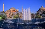 Travel photography:The Ayasofya (Hagia Sofia) with fountain, Turkey