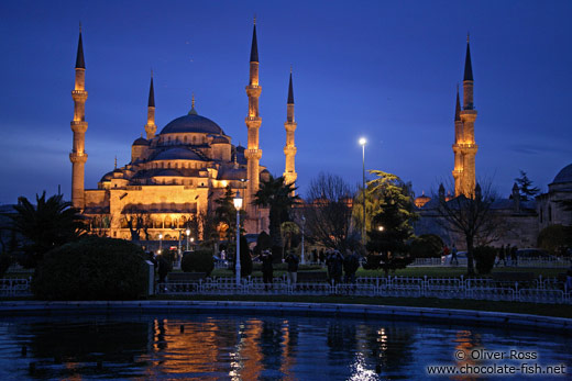 Sultanahmet (Blue) Mosque after sunset
