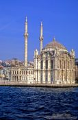 Travel photography:Ortaköy mosque below the Bosporus bridge, Turkey