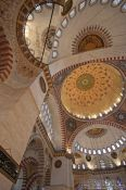 Travel photography:Roof cupolas inside the Süleymaniye Mosque, Turkey