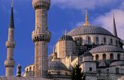 Travel photography:Close-up of the Sultanahmet (Blue) Mosque, Turkey