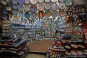 Travel photography:Ceramic shop at the Grand Basar in Istanbul, Turkey