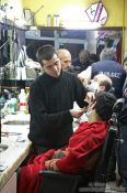 Travel photography:Getting a shave in Istanbul, Turkey