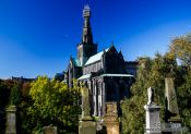 Travel photography:Glasgow Cathedral viewed from the Necropolis, United Kingdom