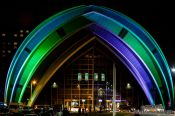Travel photography:The Glasgow Clyde Auditorium by night, United Kingdom