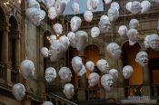 Travel photography:Sculpted faces inside the Glasgow Kelvingrove Gallery and Museum, United Kingdom