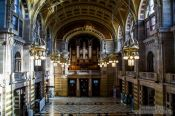 Travel photography:The interior of the Glasgow Kelvingrove Gallery and Museum, United Kingdom