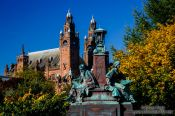 Travel photography:Sculptures in Glasgow`s Kelvingrove Park, United Kingdom