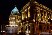 Travel photography:Glasgow`s Mitchell Library by night, United Kingdom