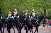 Travel photography:Parade of the horse guard outside London´s Buckingham Palace, United Kingdom, England