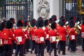 Travel photography:Parade of the guards outside London´s Buckingham Palace, United Kingdom, England