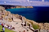Travel photography:Scenic Amphitheatre near Land`s End in Cornwall, United Kingdom