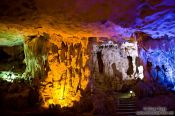 Travel photography:Inside Hang Sun Sot Cave in Halong Bay , Vietnam