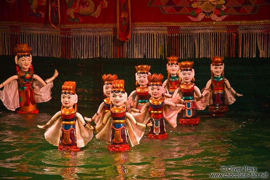 Water ballet at Hanoi´s Water Puppet Theatre