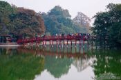 Travel photography:Huc Bridge in Hanoi, Vietnam