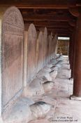 Travel photography:Hanoi Temple of LitDoctor´s Stelae at the Temple of Literature in Hanoierature , Vietnam