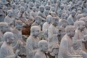 Travel photography:Large collection of stone sculptures at Bai Dinh pagoda near Tam Coc, Vietnam