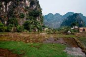 Travel photography:Characteristic karst landscape near Tam Coc, Vietnam