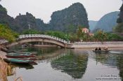 Travel photography:Tourist boats at Tam Coc, Vietnam