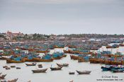 Travel photography:Fishing fleet at Mui Ne , Vietnam