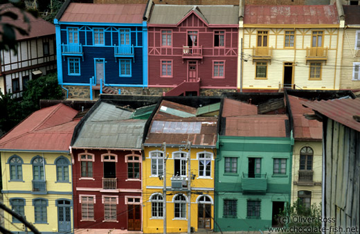 Old houses in Valparaiso
