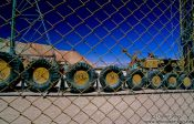 Travel photography:Cemetery for mining machinery in Chuquicamata, Chile